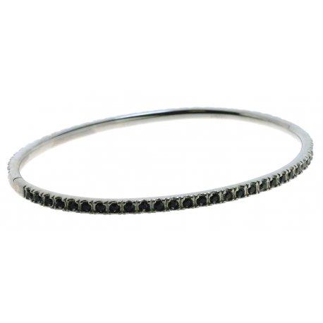 Браслет женский серебряный 925* чернение кристалл Арт 14 2 1364