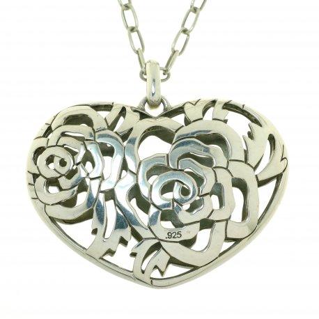 Колье женское серебряное 925* родий Арт 12 2 5044
