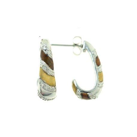 Серьги женские серебряные 925* цирконий эмаль Арт 11 3 27005