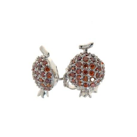 Серьги женские серебряные 925* родий цирконий Арт 11 3603