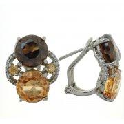 Серьги женские серебряные 925* родий цирконий Арт 11 5551