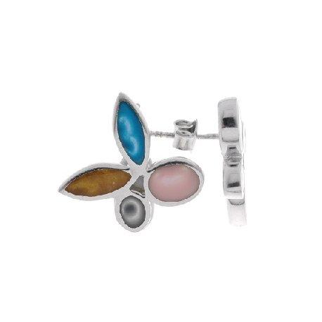 Серьги женские серебряные 925* эмаль Арт 11 2366