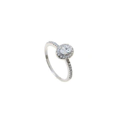 Кольцо женское серебряное 925* родий цирконий Арт 155 219