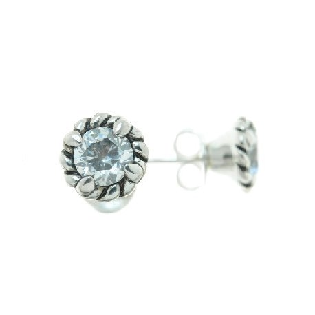 Серьги женские серебряные 925* родий цирконий Арт 11 2 4507-80