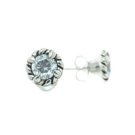 Сережки жіночі срібні 925* родій цирконій Арт 11 2 4507-80