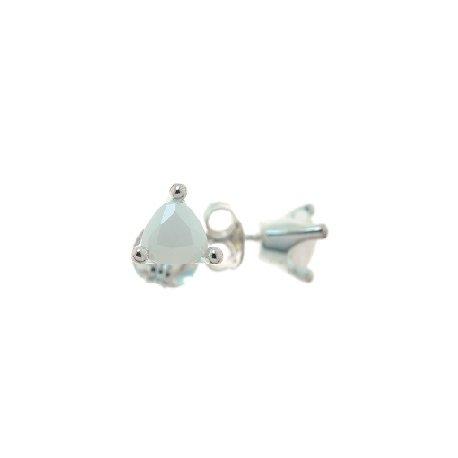 Серьги женские серебряные 925* родий цирконий Арт 11 2 4524-135
