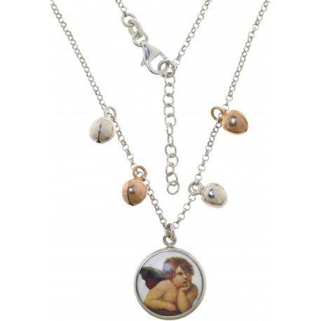 Колье женское серебряное 925* эмаль Арт 220 483