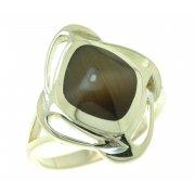 Кольцо женское серебряное 925* родий кошачий глаз Арт 15 2 3265