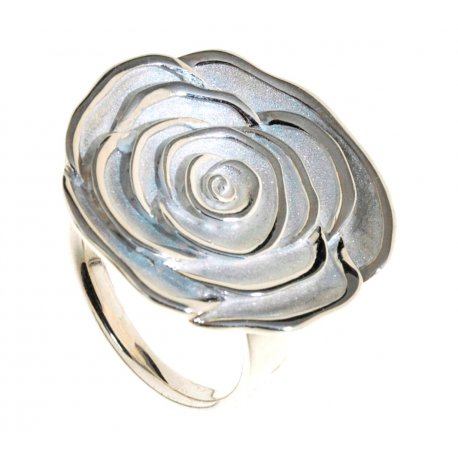 Кольцо женское серебряное 925* родий Арт 15 2 2840