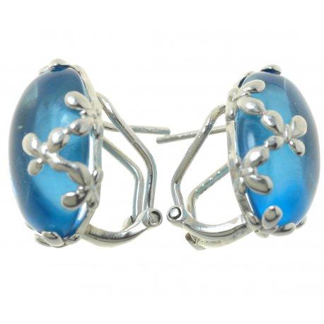 Серьги женские серебряные 925* родий кристалл Арт11 4687А