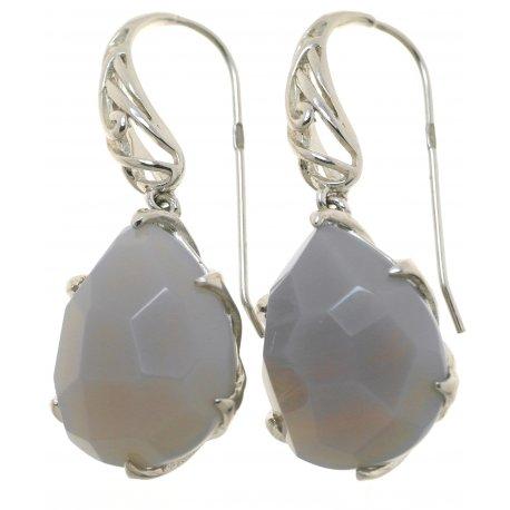 Серьги женские серебряные 925* агат Арт 11 4484В