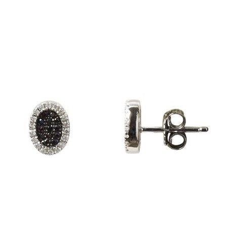 Серьги женские серебряные 925* родий цирконий Арт 115 168