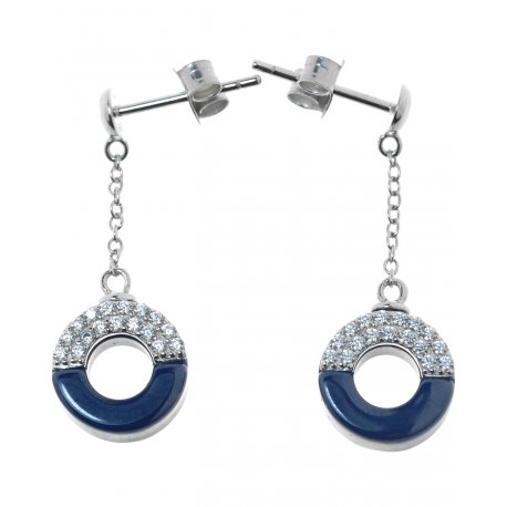 Серьги женские серебряные 925* керамика цирконий Арт 11 5 009с