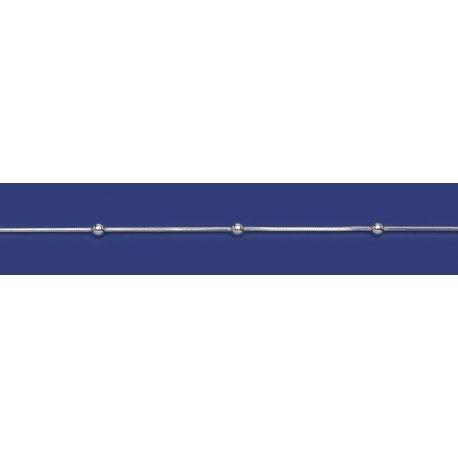 Арт 31 020ш Цепочка женская серебряная 925* Снейк шарики