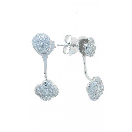 Сережки жіночі срібні 925* родій цирконій Арт 115 206