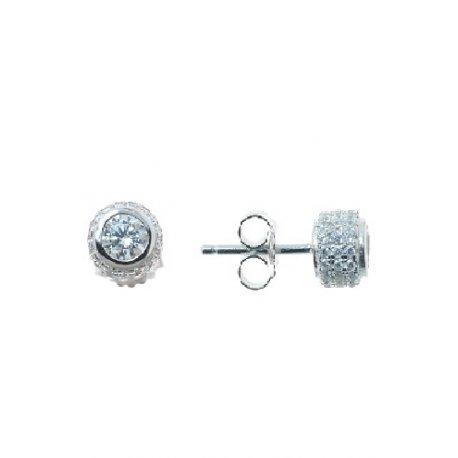 Серьги женские серебряные 925* родий цирконий Арт 115 199