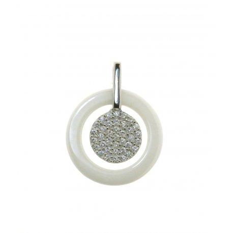 Подвес женский серебряный 925* керамика цирконий Арт 13 5 014б