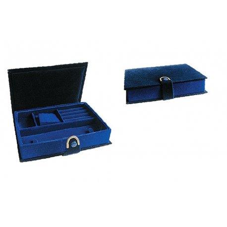 Шкатулка для зберігання ювелірних прикрас флок Арт FC-JC-3