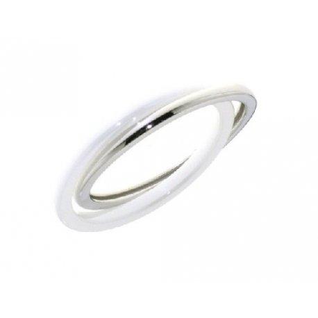 Кольцо женское серебряное 925* родий керамика Арт 15 5 009б