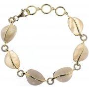 Браслет жіночий срібний 925* позолота цирконій місячний камінь Арт54 9820