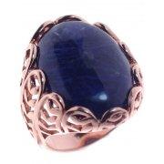 Кольцо женское серебряное 925* позолота содалит Арт 55 7031