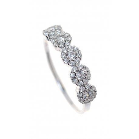 Кольцо женское серебряное 925* родий цирконий Арт 155 040