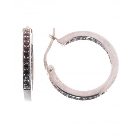 Серьги женские серебряные 925* родий кристалл Арт11 2 4254