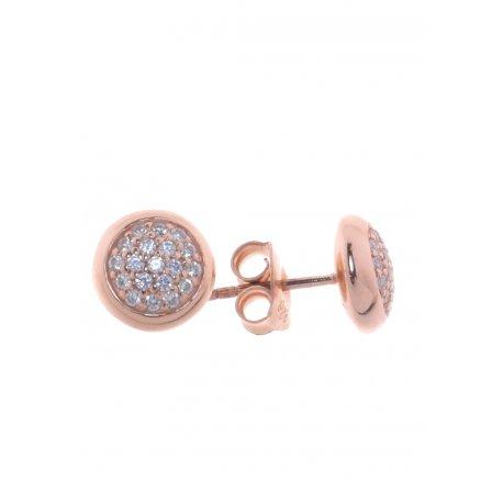 Серьги женские серебряные 9258 позолота цирконий Арт 51 2 5419