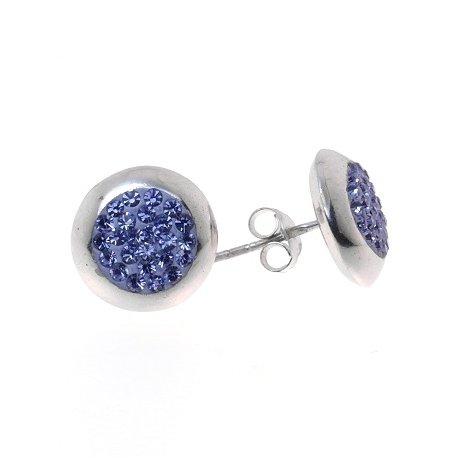 Серьги женские серебряные 925* родий кристалл Арт111 612ф