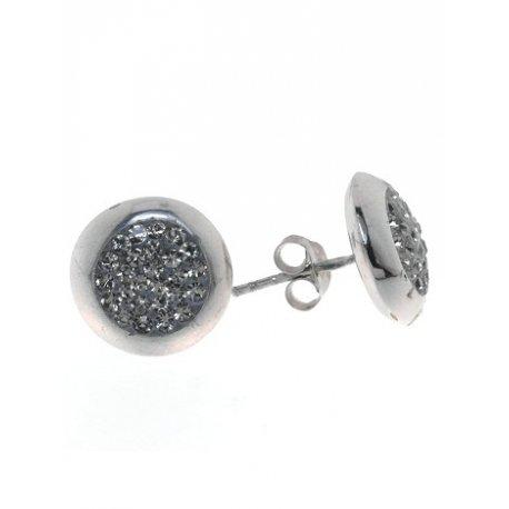 Серьги женские серебряные 925* родий кристалл Арт111 612с