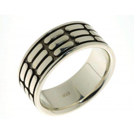 Кольцо мужское серебряное 925* родий чернение Арт 15 2 3681