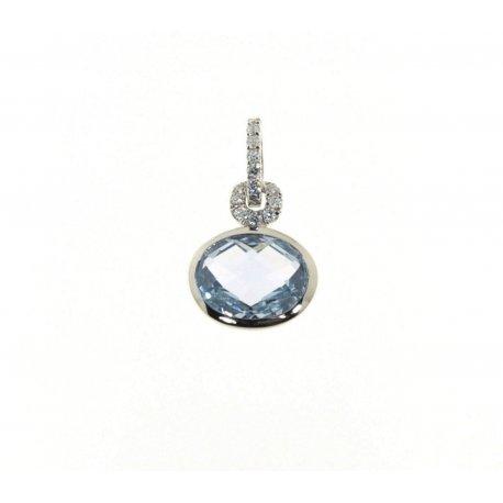 Підвіс жіночий срібний 925* родій цирконій Арт 13 6350А
