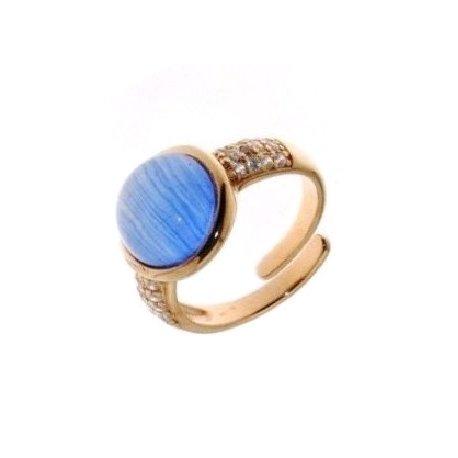 Кольцо женское серебряное 925* позолота кошачий глаз цирконий Арт55 4 00682