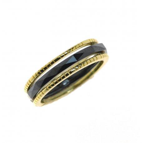Кольцо женское серебряное 925* комплект керамика Арт 55 5 002ч
