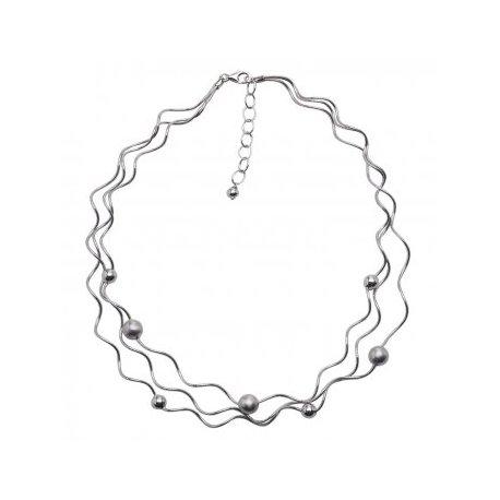 Колье женское серебряное 925* родий Арт 260 42-45