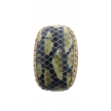 Подвес женский серебряный 925* позолота цирконий эмаль Арт 53 5330