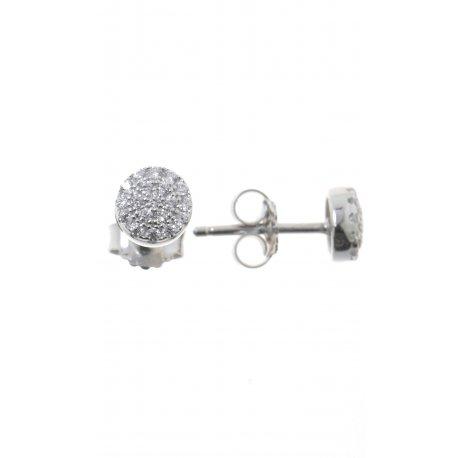 Серьги женские серебряные 925* родий цирконий Арт 115 097