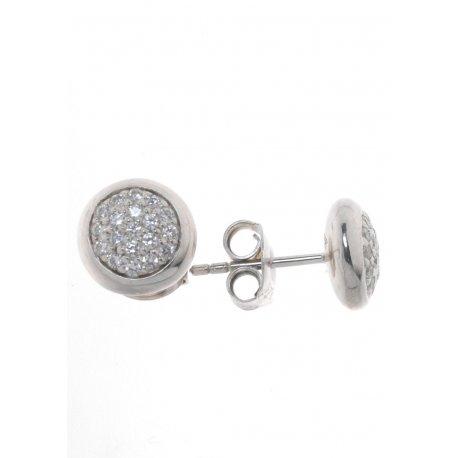 Серьги женские серебряные 9258 родий цирконий Арт 11 2 5405