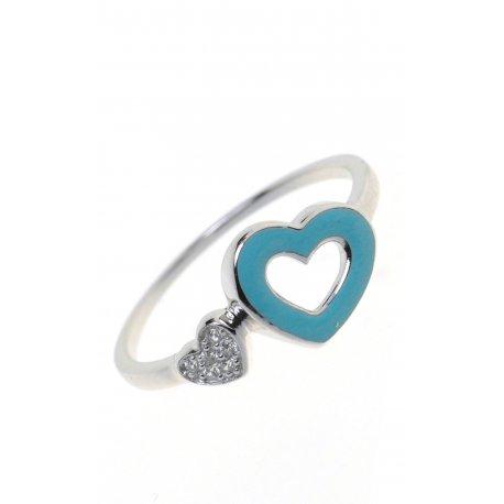 Кольцо женское серебряное 925* эмаль цирконий Арт 223 04г