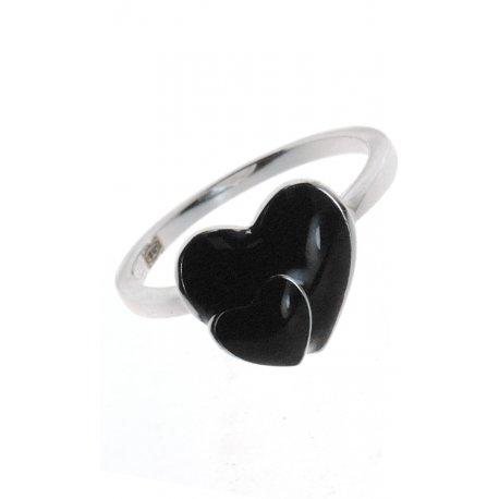 Кольцо женское серебряное 925* эмаль Арт 223 01ч