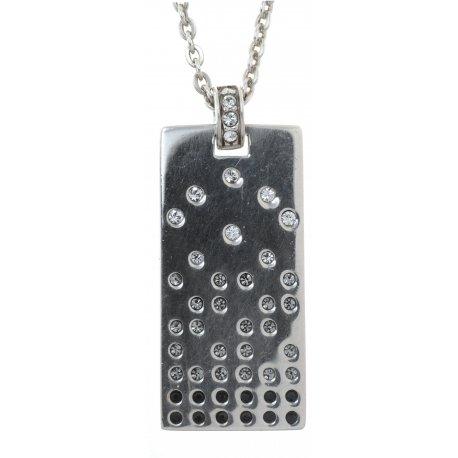 Колье женское серебряное 925* родий кристаллы Арт 12 2 6264