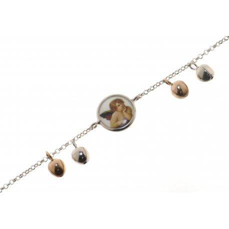 Браслет женский серебряный 925* эмаль Арт 221 483