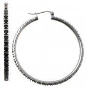 Серьги женские серебряные 925* родий кристаллы Арт 11 2 4298