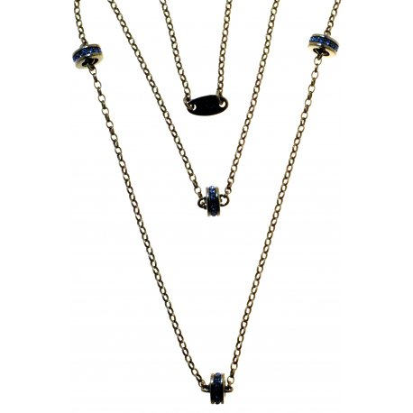 Кольє жіноче срібне 925* чорніння кристал Арт 12 2 6888