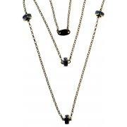 Колье женское серебряное 925* чернение кристалл Арт 12 2 6888