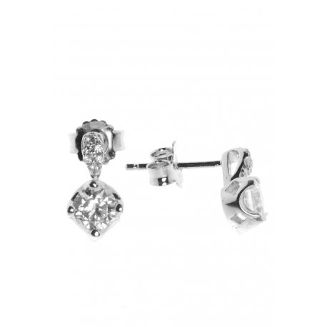 Серьги женские серебряные 925* родий цирконий Арт 115 187