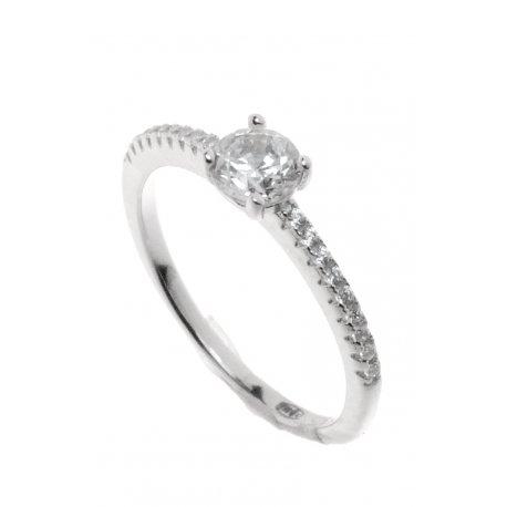 Кольцо женское серебряное 925* родий цирконий Арт 155 223