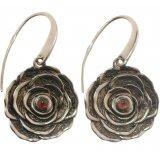 Серьги женские серебряные 925* родий гранат Арт 11 2 4243-48