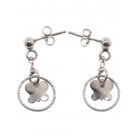 Серьги женские серебряные 925* родий Арт 282 194