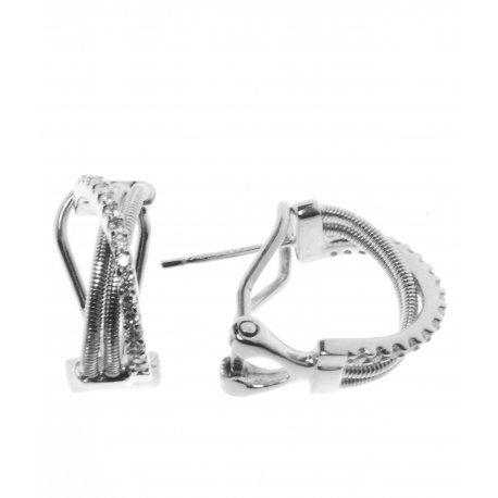 Серьги женские серебряные 925* родий цирконий Арт 11 4 2138